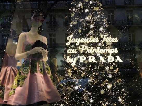 It's a Prada Christmas at Printemps!